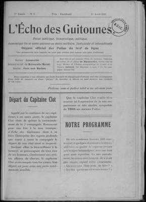 L'Echo des guitounes n°4 - 1er avril 1915
